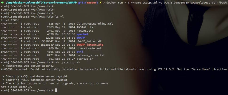 使用Docker搭建Web漏洞测试环境