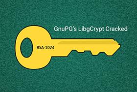 研究人员已经在GnuPG加密库中实现RSA-1024破解