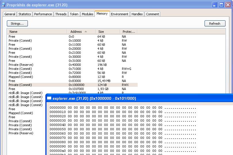使用恶意软件将隐藏代码注入已知进程的渗透研究