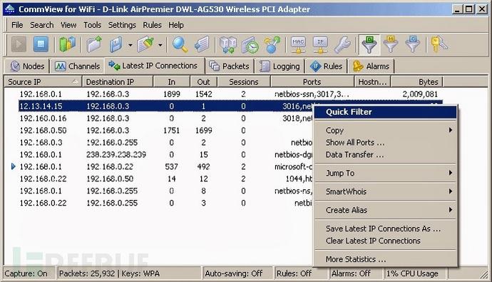 无线网络嗅探分析工具 – CommView for WiFi 7.0