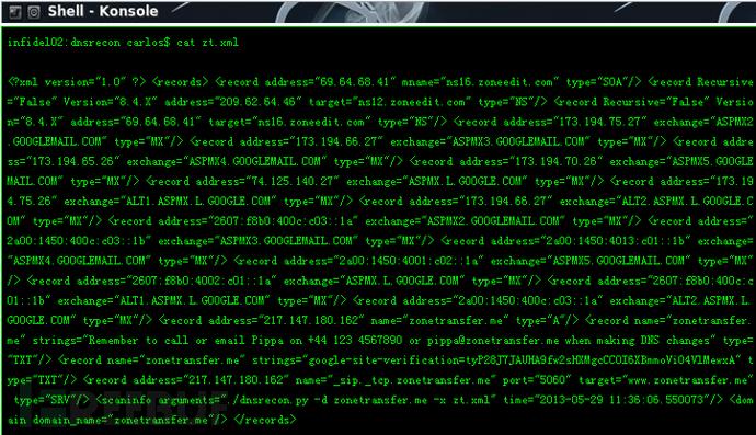 DNS信息探测工具 – DNSRecon v0.8.6