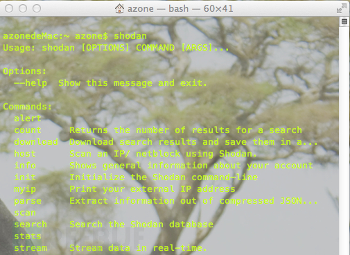 安全搜索引擎Shodan(搜蛋)命令行模式使用TIPS