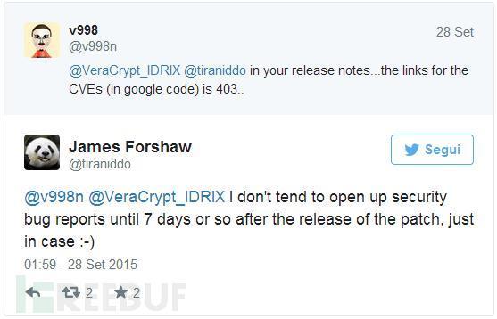 还在使用TrueCrypt?当心这两个危险漏洞