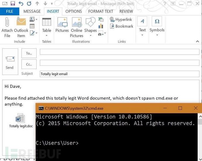 OLEOutlook利用:一封邮件绕过所有企业安全防控