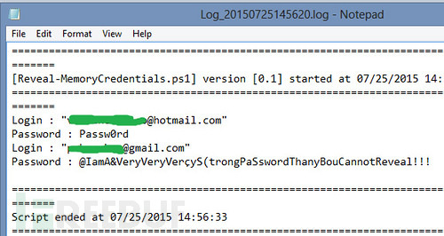 RWMC:利用PowerShell提取Windows账号密码的利器