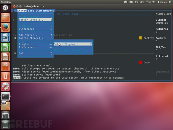 Ubuntu 12.04安装嗅探蓝牙数据包的Kismet和Wireshark