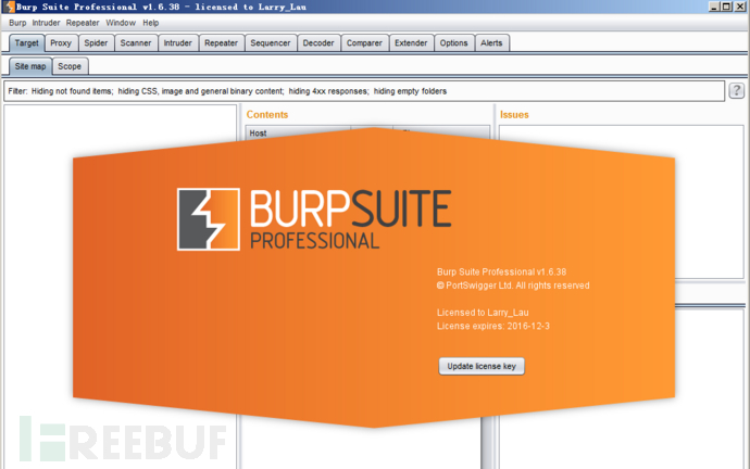 渗透测试神器Burpsuite Pro v1.6.38(含下载)