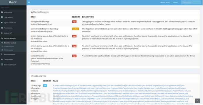 一款开源移动安全测试框架:MobSF