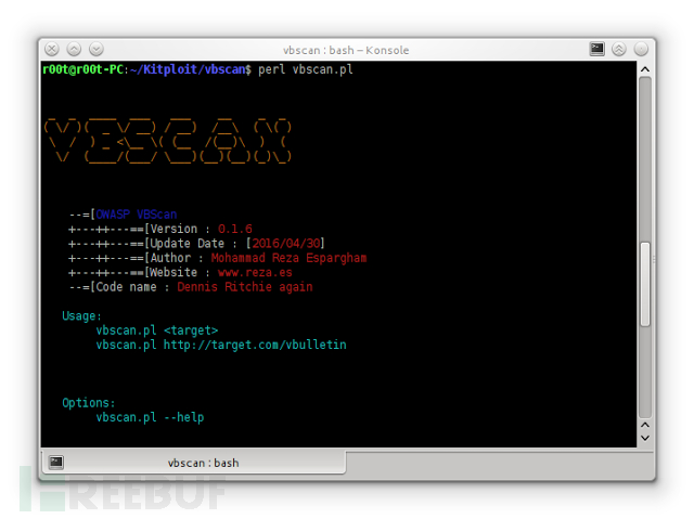 工具推荐:OWASP VBScan 0.1.6 – Black Box vBulletin漏洞扫描器