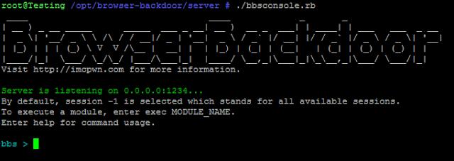 BrowserBackdoor:一款基于JavaScriptWebSocket的后门套装