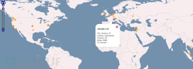 使用WireShark生成地理位置数据地图(含演示视频)