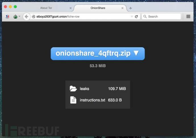 安全可靠的匿名文件分享工具:OnionShare