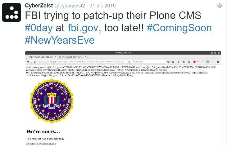 FBI网站被黑致数据泄露?官方称这根本是个骗局