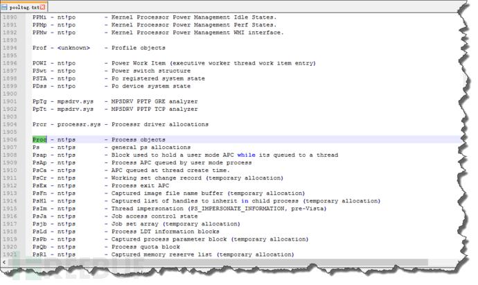 利用Volatility进行Windows内存取证分析(二):内核对象、内核池学习小记