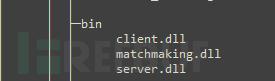 游戏关键的模块client.dl和server.dll