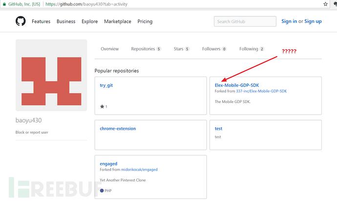 """""""baoyu430""""的GitHub页面"""