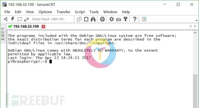 登录树莓派操作系统
