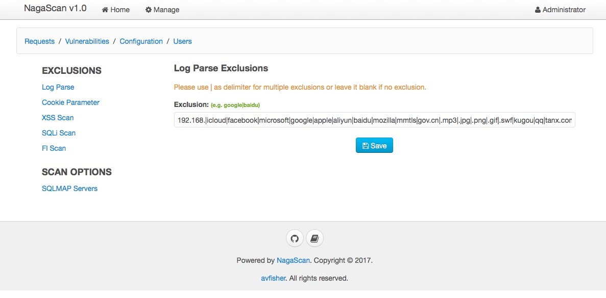NagaScan:针对Web应用的分布式被动扫描器