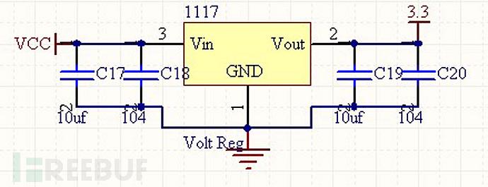 ASM1117-3.3原理图