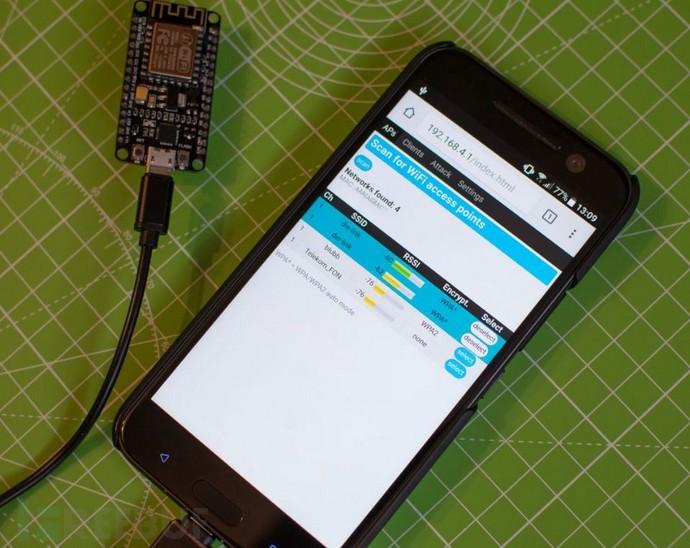 利用 NodeMCU ESP8266自己动手组装WiFi干扰器