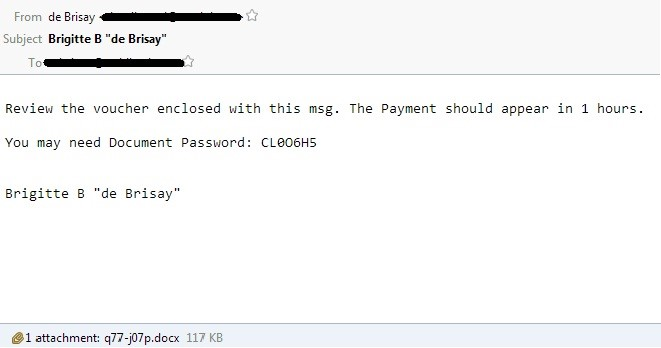 恶意邮件截图
