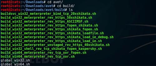 下载后大家可以通过Build来查看其中可被自己所利用的脚本文件