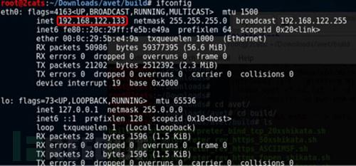可以对攻击机IP地址进行配置及生成免杀文件的信息