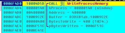 将恶意代码写入到svchost.exe内存中并恢复进程