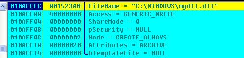非网吧系统下,会释放mydll.dll并设置为隐藏