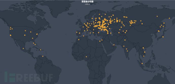 受害者地理位置分布