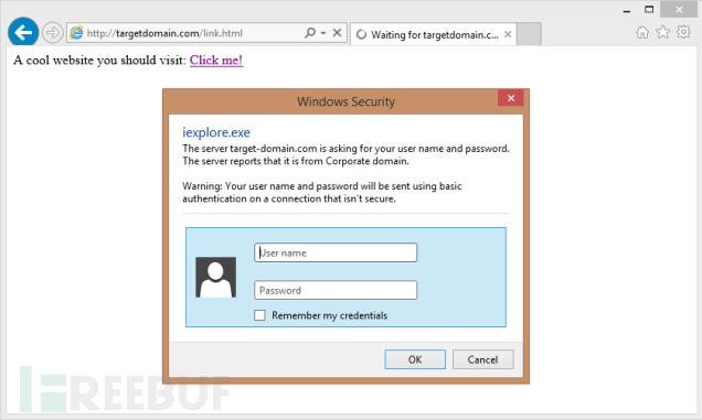 通过打开URL触发基础认证提示