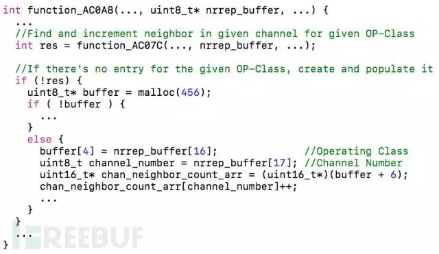 BroadCom WiFi芯片处理Neighbor Report Response信息的函数