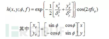 Gabor滤波器的一般形式