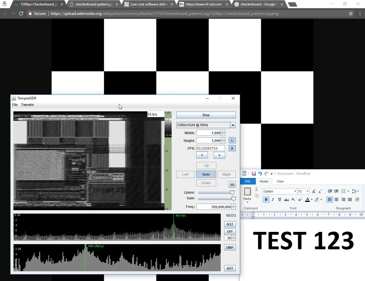 利用开源工具 TempestSDR 实现屏显内容远程窃取