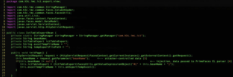 通过补丁比对分析发现HPE IMC系统代码执行漏洞