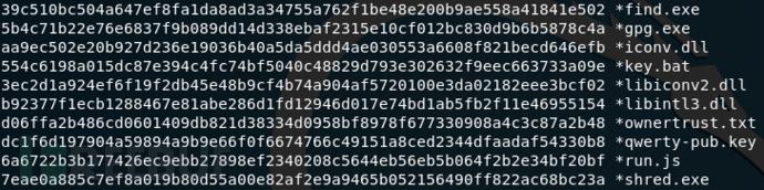 GPGQwerty样本SHA-256值