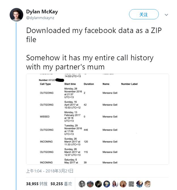 祸不单行,外媒爆料Facebook收集用户通话和短信数据多年