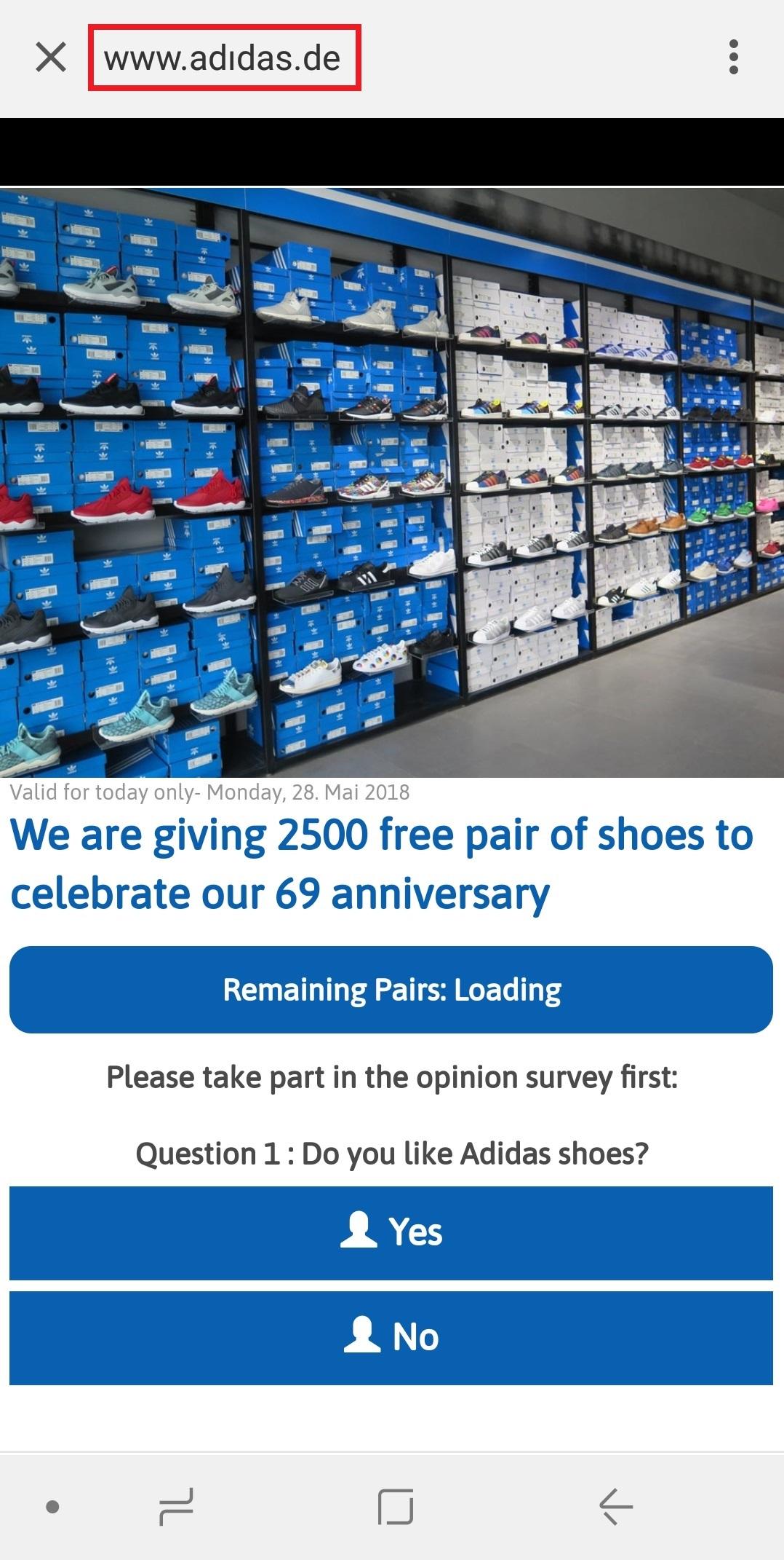 安全News|阿迪达斯69周年免费送2500双鞋?这背后的真相究竟是什么?