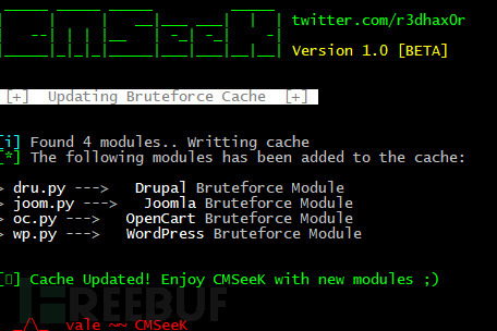 CMSeeK:CMS漏洞检测和利用套件