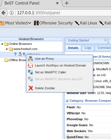 攻击框架   浏览器攻击框架BeEF Part Four:绕过同源策略与浏览器代理