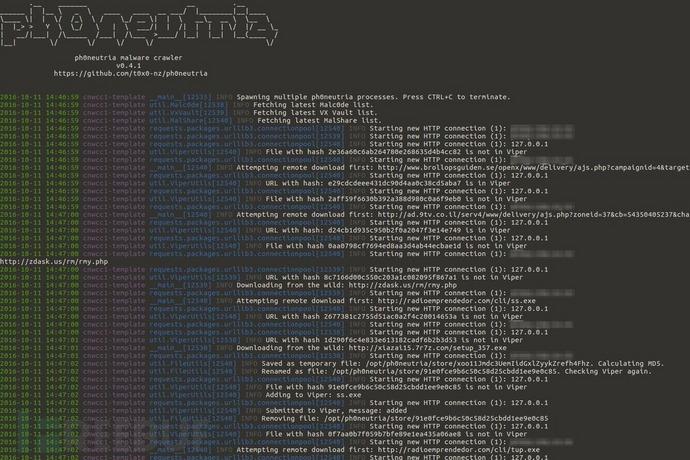 Ph0neutria:一款从野外采集恶意软件样本的工具