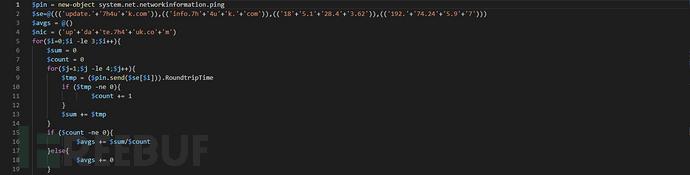 混淆后的PowerShell代码