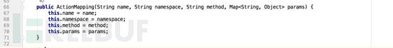 传入ActionMapping构造函数